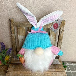 Easter Bunny Gnome with Carrot